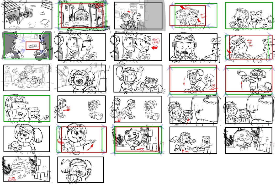 Robot Storyboard Part   Two Robots Fighting Each Other  Cgr